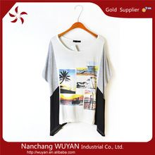 Wholesale custom T-shirt bulk printed women T-shirts kimono sleeve wide neck casual beach cotton t-shirts for ladies  best seller follow this link http://shopingayo.space