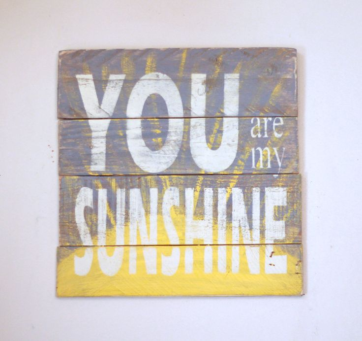 Reclaimed Wood Wall Art Sign You Are My Sunshine With Quote Pallet Rustic Farmhouse