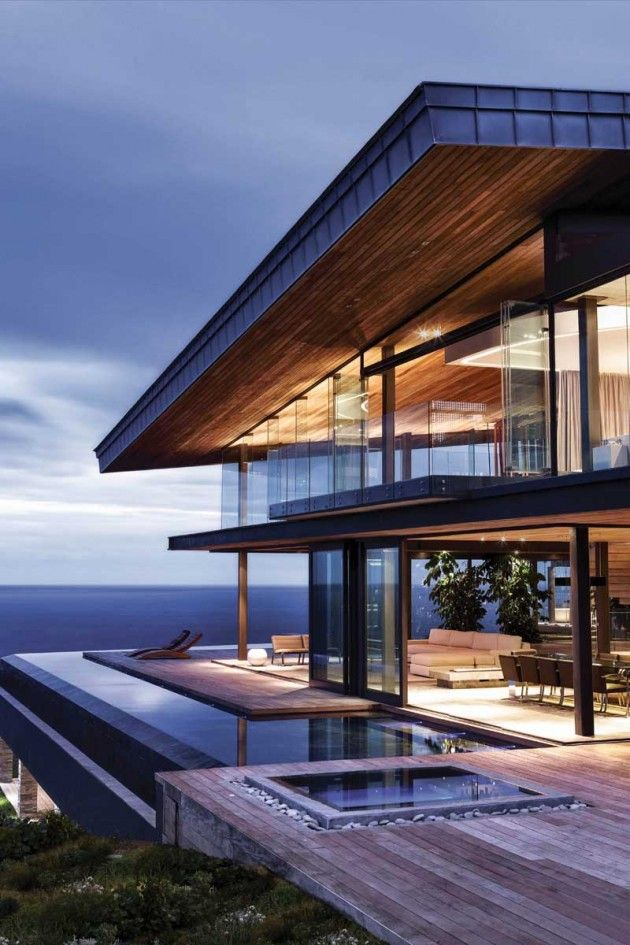 This is awesome exterior aspect of cove 3 house in knysna south africa by saota and antoni associates