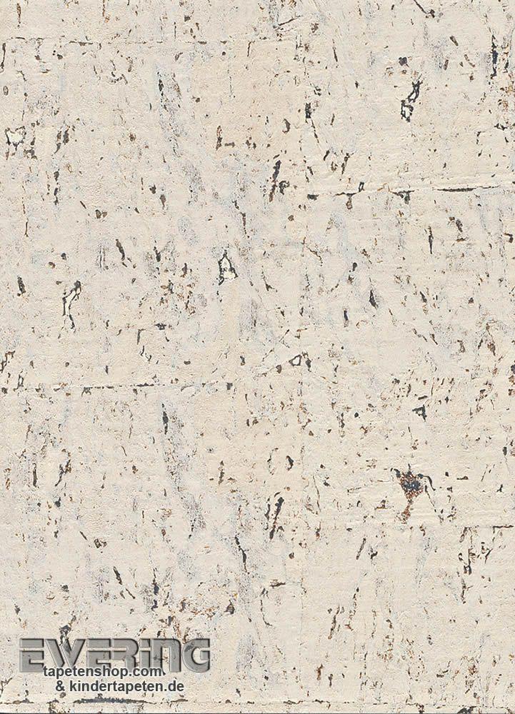 Musterstück Rasch Textil Vista 5 23-213798 Kork-Tapete hell-beige glänzend Musterstück