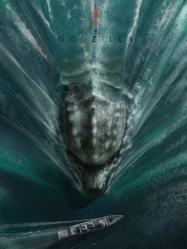Godzilla fan art blows my mind with the scale! Excited to see this movie! #godzilla #illustration #posterart
