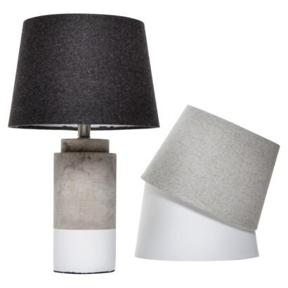 Room Essentials® Dipped Cement Lamp Base and Mix and Match Shade