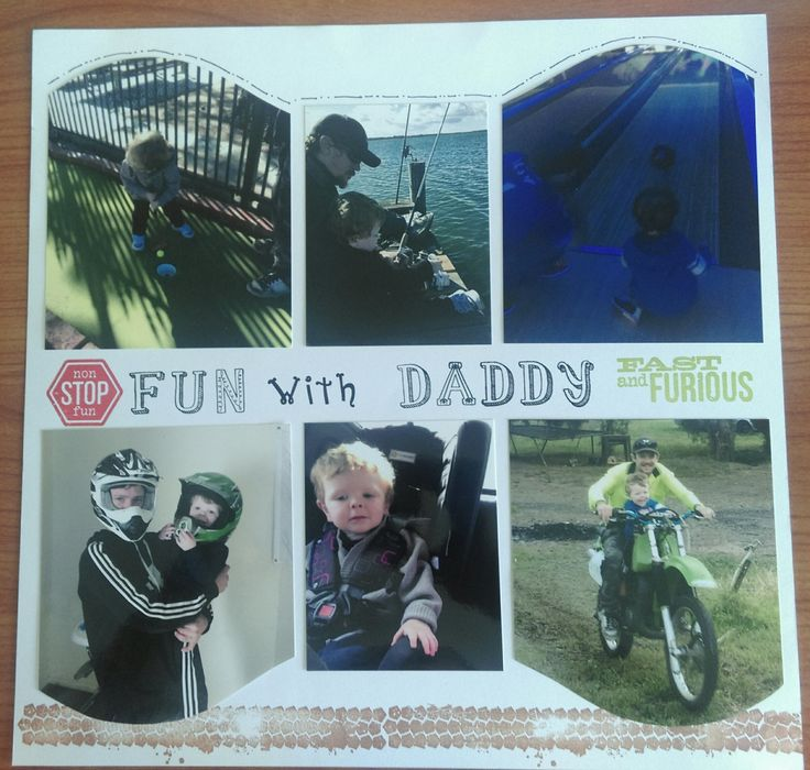scrapbook fun with Daddy