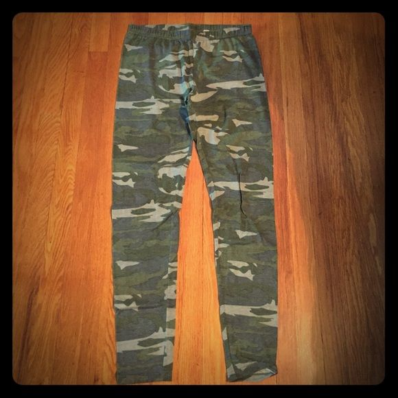 Camo leggings Only wore once. Cute camo legging. Xhilaration Pants Leggings
