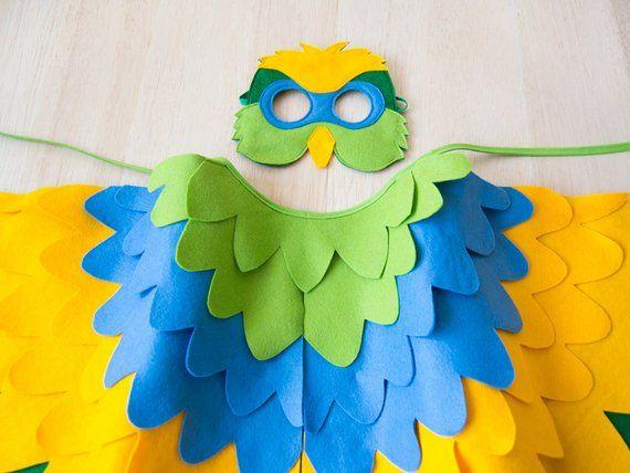 Pájaro animal máscara loro máscara ara pájaro máscara papageienmaske faschingsmaske