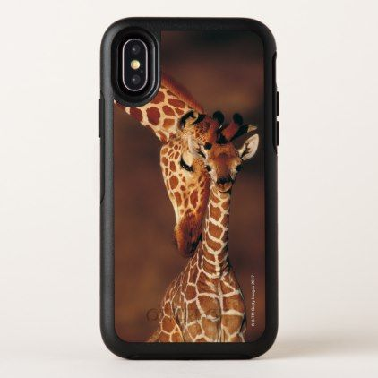 Adult Giraffe with calf (Giraffa camelopardalis) OtterBox Symmetry iPhone X Case - baby gifts child new born gift idea diy cyo special unique design