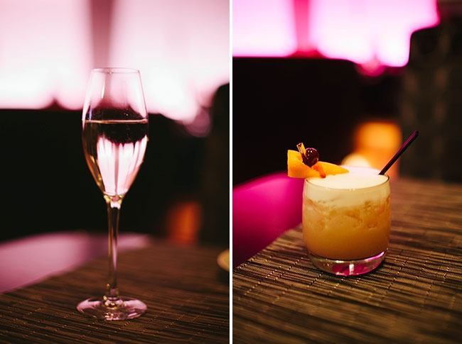 A Glass of Ruffino Prosecco and an Old School Whisky Sour from Hotel 1000's Boka Bar + Restaurant