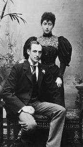 Engagement portrait of Prince Carl of Denmark, the future King Haakon of Norway and Princess Maud of Wales, daughter of Edward VII