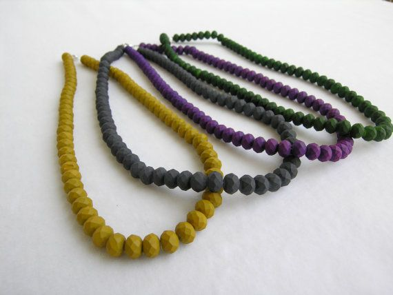 Necklace with polyedral beads in four colors Beaded by GIASEMAKI https://www.etsy.com/listing/215738264/necklace-with-polyedral-beads-in-four?ref=listing-shop-header-0