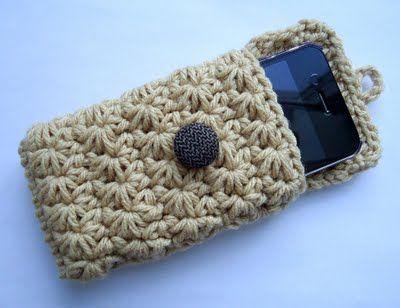 Receitas de Trico e Croche: Pap porta celular em crochê (vídeo)