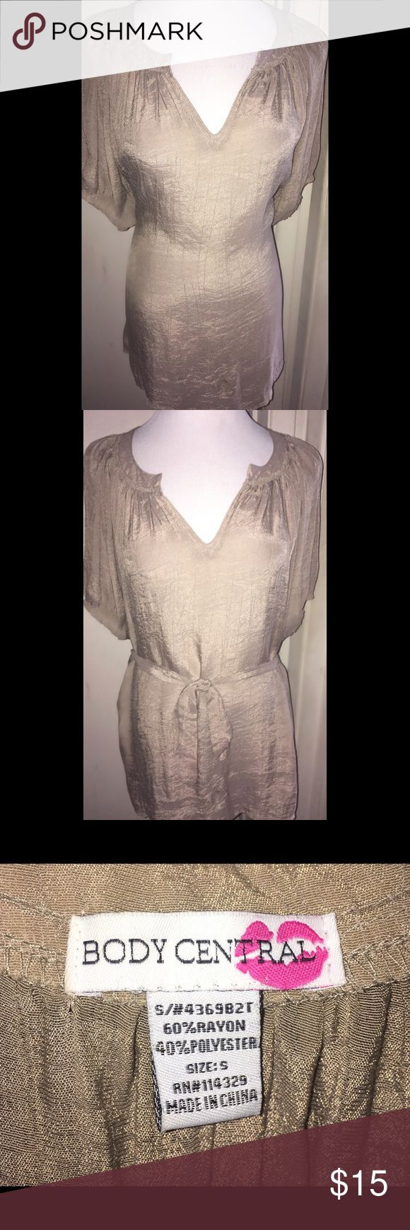 Body Central Blouson Tunic - Size S Body Central Blouson Tunic in a Size S.  Removable belt can be tied in front or the back of the blouse.  Also available in navy.  Like new/excellent condition! Body Central Tops Tunics
