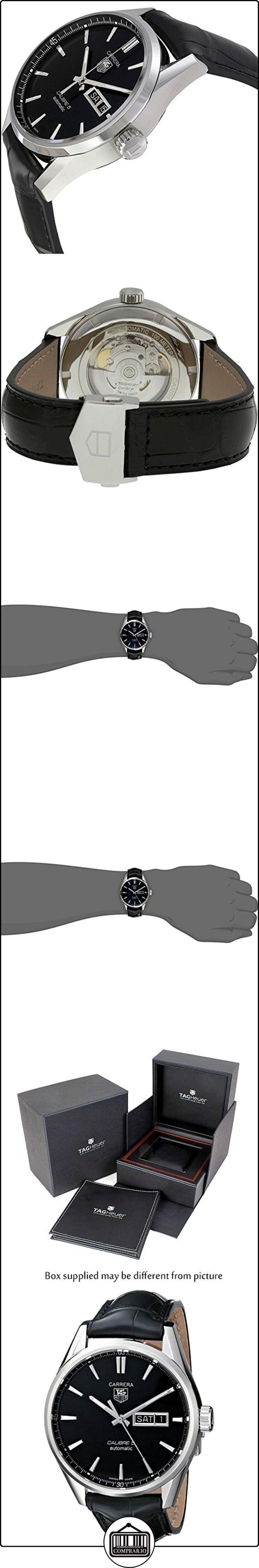 TAG Heuer WAR201A.FC6266 - Reloj para hombres, correa de cuero color negro  ✿ Relojes para hombre - (Lujo) ✿