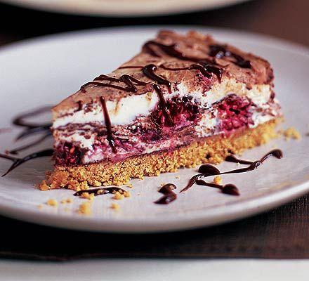 Raspberry & milk chocolate cheesecake