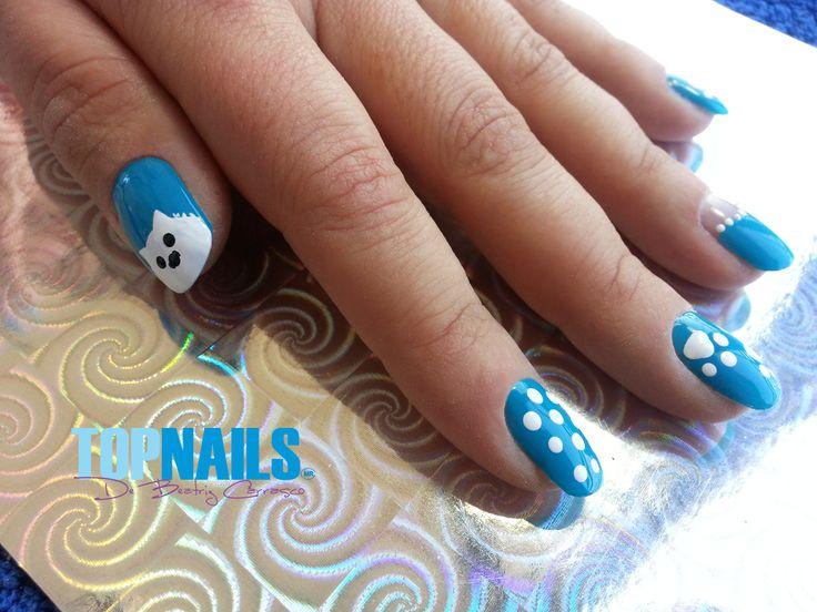 Uñas Acrílicas Naturales con Decorado Westy www.topnails.cl Cel:94243426, saludos Beatriz
