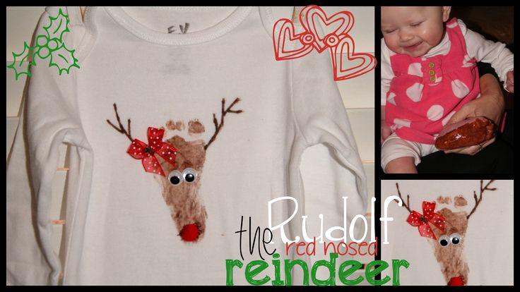 Reindeer Footprint shirt @ Toddler Time Tips @ https://www.facebook.com/toddlertimetips