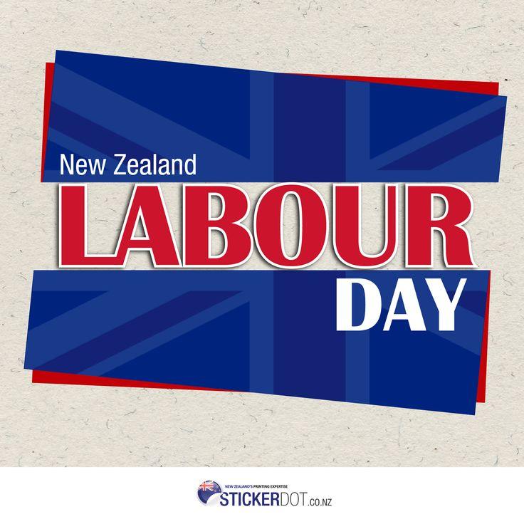 Happy Labour Day Kiwis! Enjoy your day off! #LabourDay #NZ #StickerDot