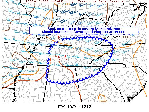 Possible Severe Thunderstorm Watch Coming For North Alabama  : The Alabama Weather Blog