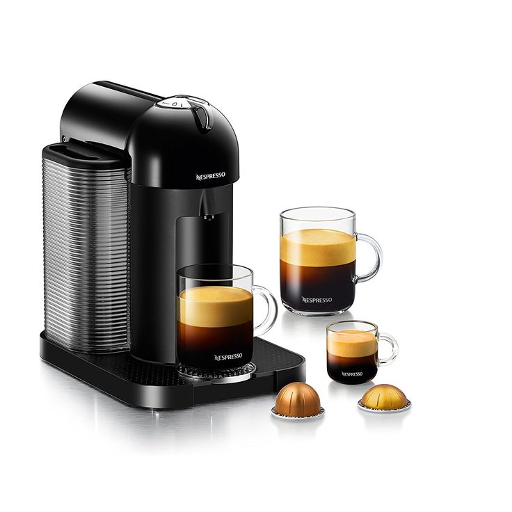 Nespresso Vertuo Black by Breville: Let's face it, the Keurig pod coffee makers make some really awful tasting coffee. If you are going to have a pod coffee maker, Nespresso makes the best! You would never guess your coffee was from a pod. You can also reorder pods on Amazon.