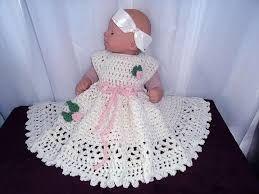 Resultado de imagem para crochet dress baby