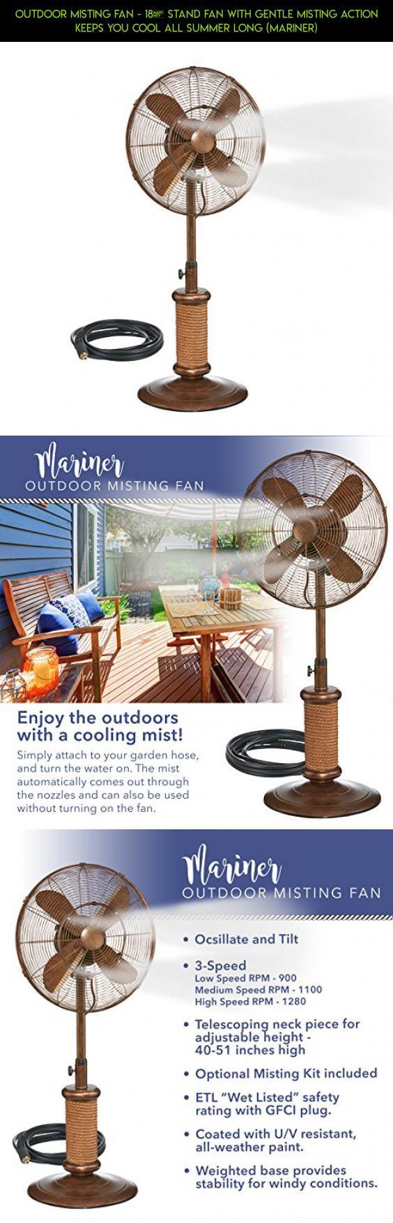 outdoor misting fan 18u201d stand fan with gentle misting action keeps you cool all - Outdoor Misting Fan