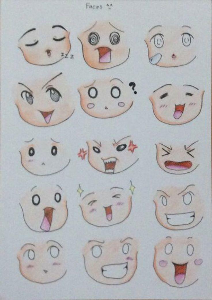 Faces 01 by MinakoMina on @DeviantArt