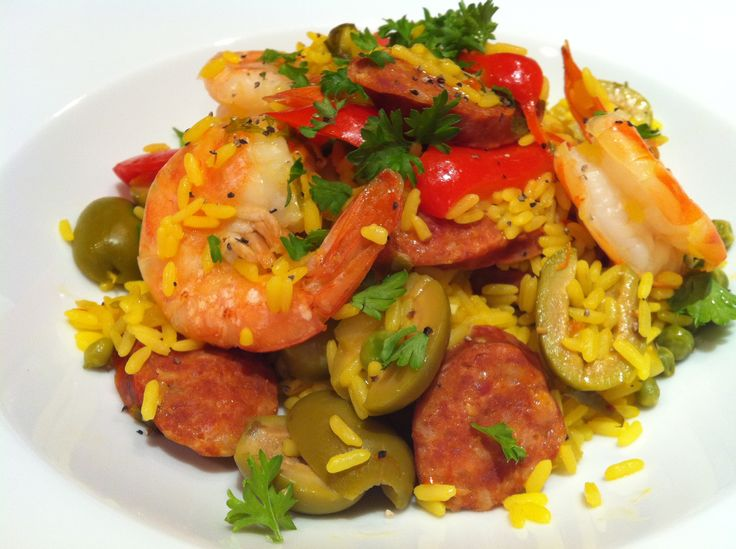 Saffron Rice with Shrimp and Chorizo | Sun Valley Summer, By Chef Mik ...