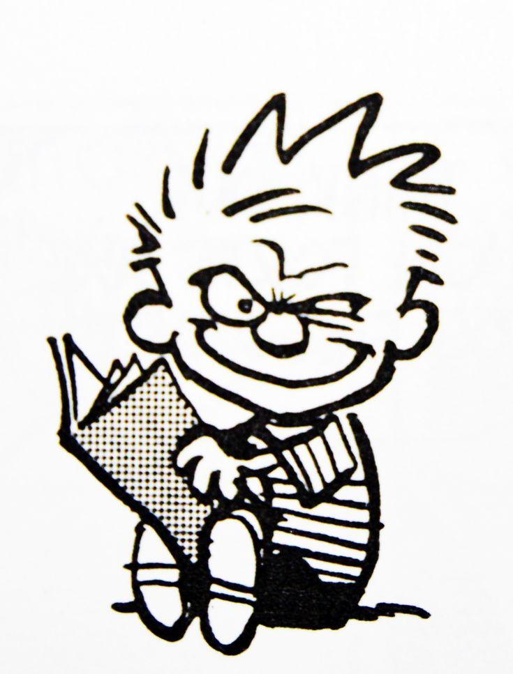 Calvin and Hobbes, looks like Calvin's got a GREAT IDEA!  (DA 9-18-14)