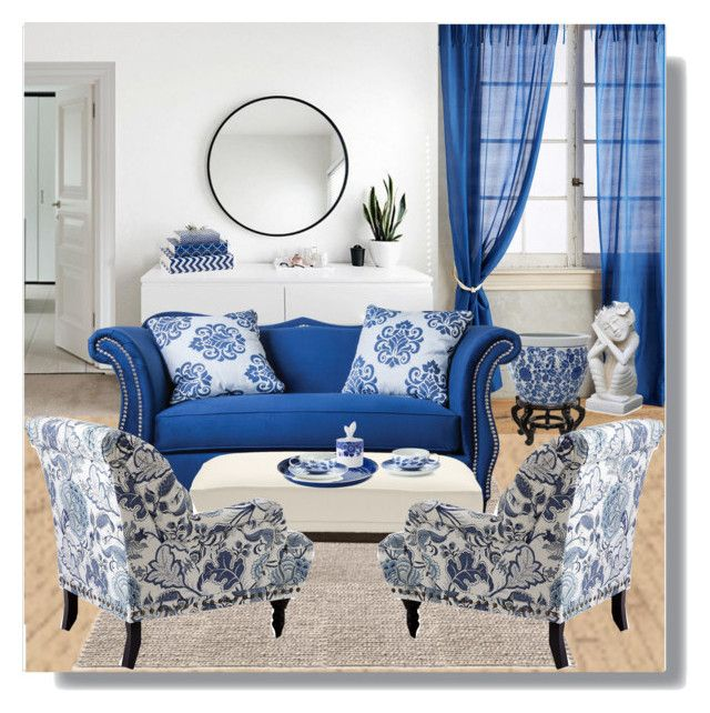 """""""Home Decor: White & Blue"""" by rosidew ❤ liked on Polyvore featuring interior, interiors, interior design, home, home decor, interior decorating, Anthropologie, Umbra, Furniture of America and Pier 1 Imports"""