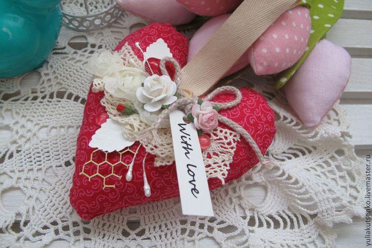 День Святого Валентина на Sees All Colors: Текстильные валентинки Юлии Куценко