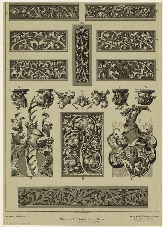 Средневековое искусство и готический орнамент Средневековое искусство и готикический орнамент #35: