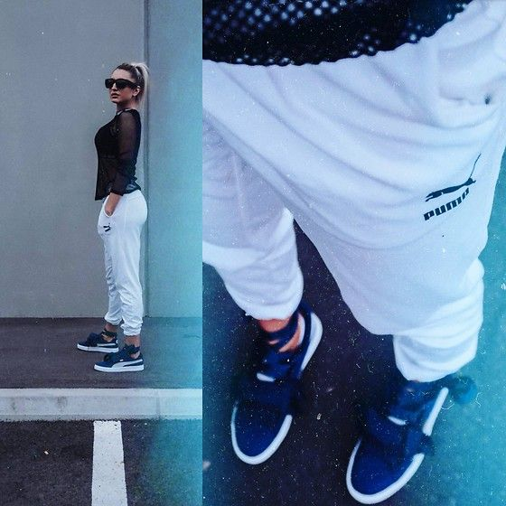 Get this look: http://lb.nu/look/8727389  More looks by Ana Maria Oprea: http://lb.nu/user/2225770-Ana-Maria-O  Items in this look:  Puma Jogging Pants, Puma Basket Heart Denim   #sporty #street #anasfashionality #austrianblogger #viennablogger #viennesegirl #blogger_at #blogger_de #vienneseblogger