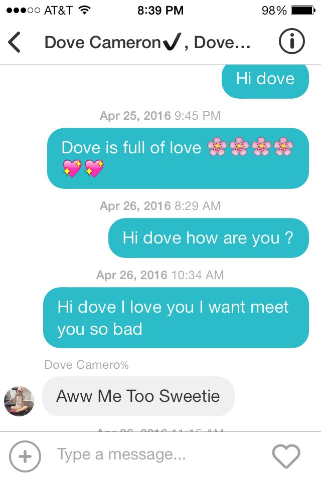 Message the real dove cameron send me in April this moth on Flipagram