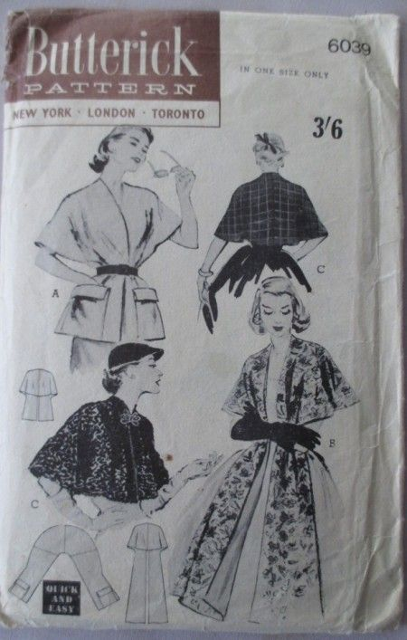 Butterick 6039 used for Mermaid's Purse's #vintagepledge