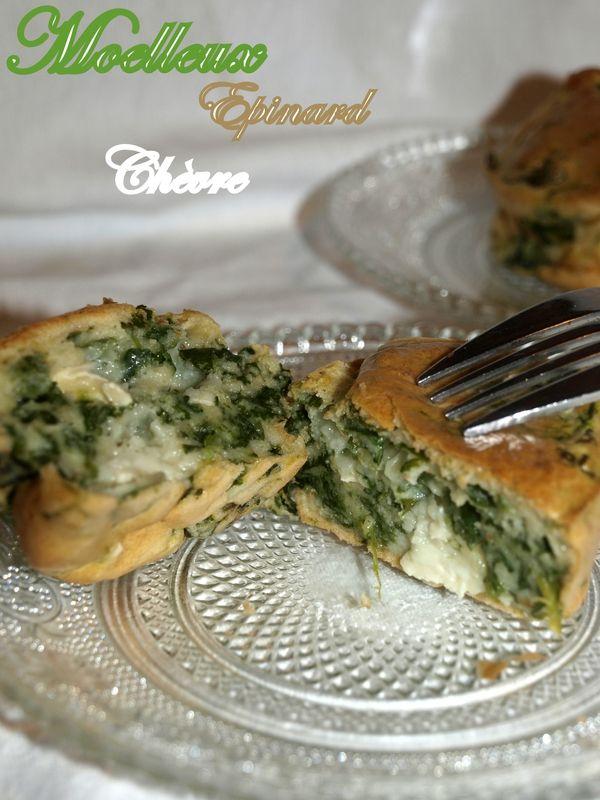 Moelleux aux épinards et chèvre - Dans vos assiettes