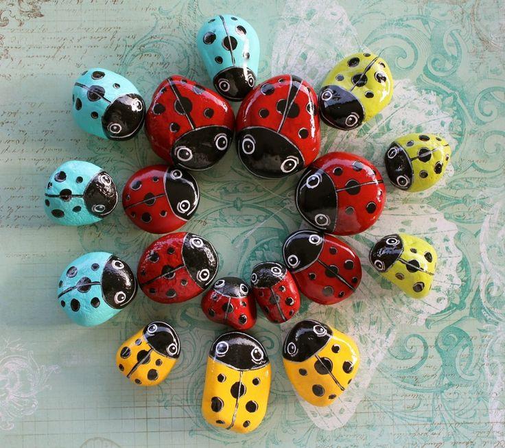 M s de 25 ideas fant sticas sobre piedras pintadas para - Piedras pintadas para jardin ...