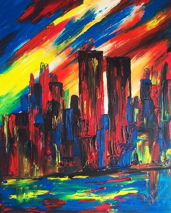 New York Skyline Twin Towers Mirror