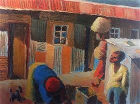 Street Scene - Gerard Sekoto