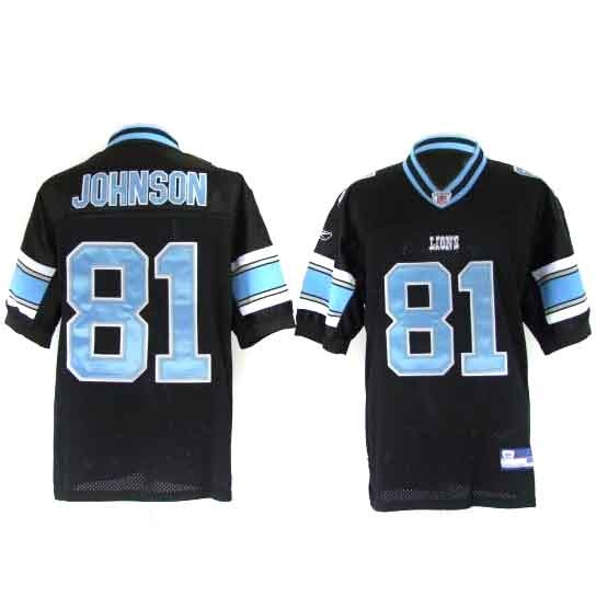 Calvin Johnson Jersey, Detroit Lions Authentic Jersey in Black
