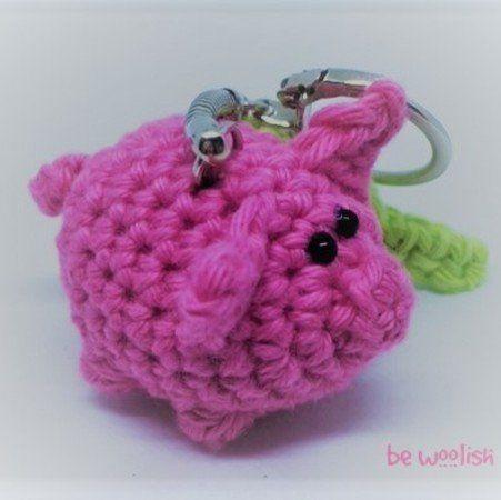 Glücksbringer Schwein mit Kleeblatt - Glücksschwein