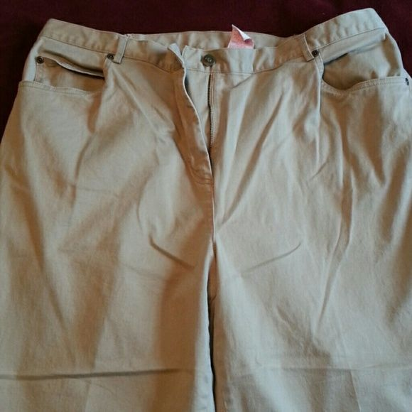 Women's khaki pants Khaki pants. 29 inch inseam. Elastic back. Never even wore them. Ruby Rd. Pants Trousers