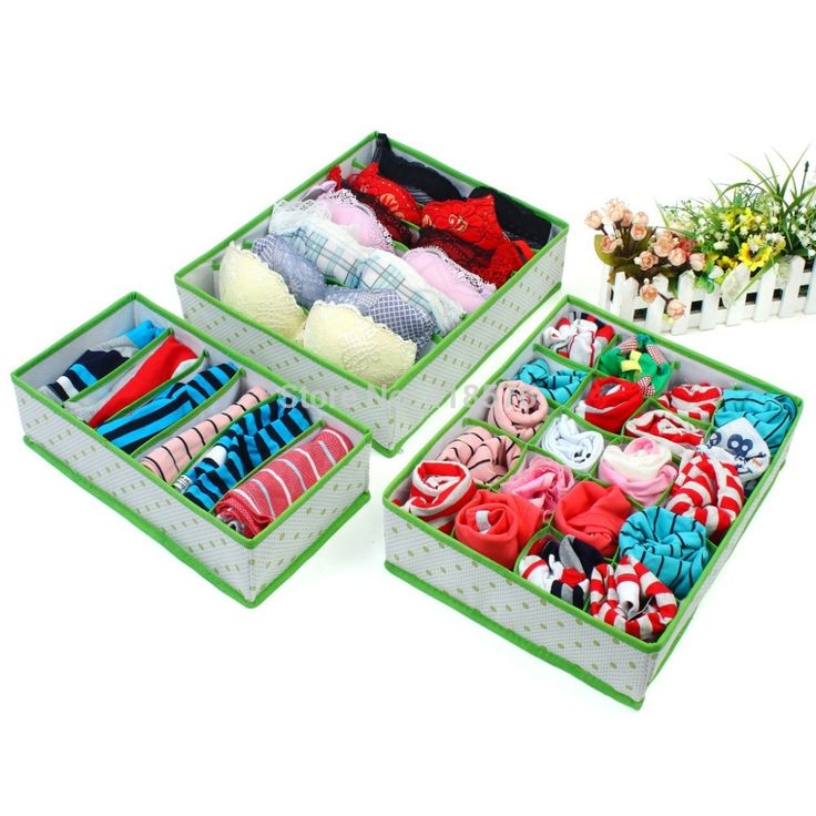 Nouveauté ménages Dot Vert Blanc Nonwoven Sous pliable Organisateur Box Placard de rangement tiroir pour Chaussettes Cravates Bra Lingerie(China (Mainland))