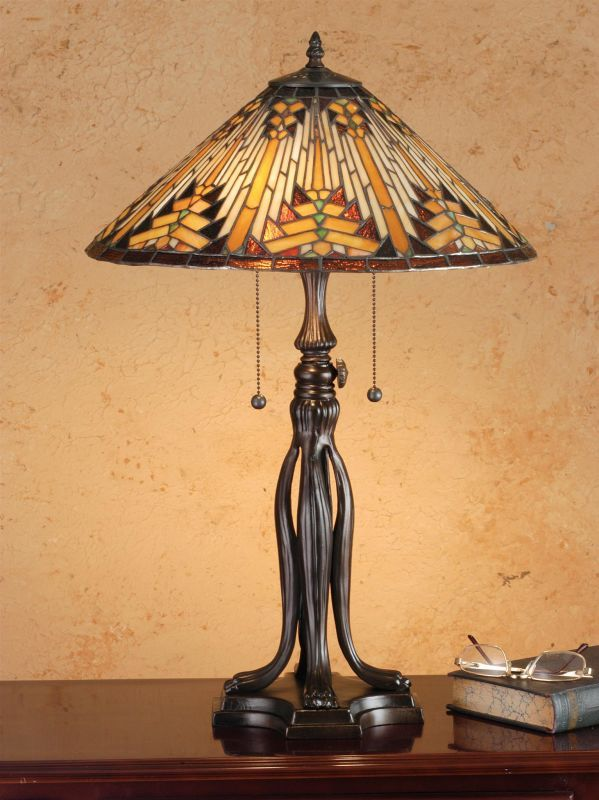Meyda Tiffany 66224 Stained Glass / Tiffany Table Lamp from the Mission Collecti Tiffany Glass Lamps Table Lamps Accent Lamps