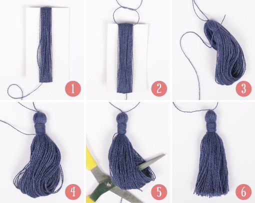 Easy step-by-step #tutorial on how to make a tassel! See more on #DROPSDesign School of Handcraft!