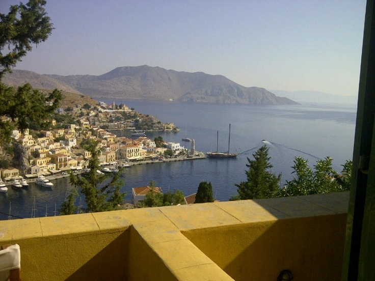Good morning to all,from our house in Symi.