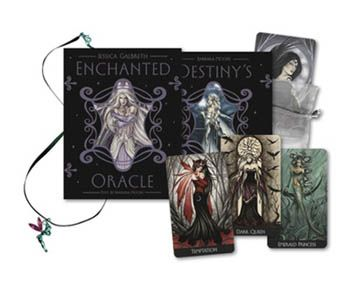 Enchanted Oracle Deck & Book by Moore & Galbreth    Featuring hauntingly beautiful fairy imagery by renowned fantasy artist Jessica Galbreth and insightful instruction from acclaimed tarot author Barbara Moore, the Enchanted Oracle presents a stunning 36-card oracle deck featuring Jessica Galbreth's original watercolor artwork, and a lyrical and lovely 240-page guidebook by Barbara Moore that presents a variety of ways to work with oracle wisdom, including spells, enchantments, and…