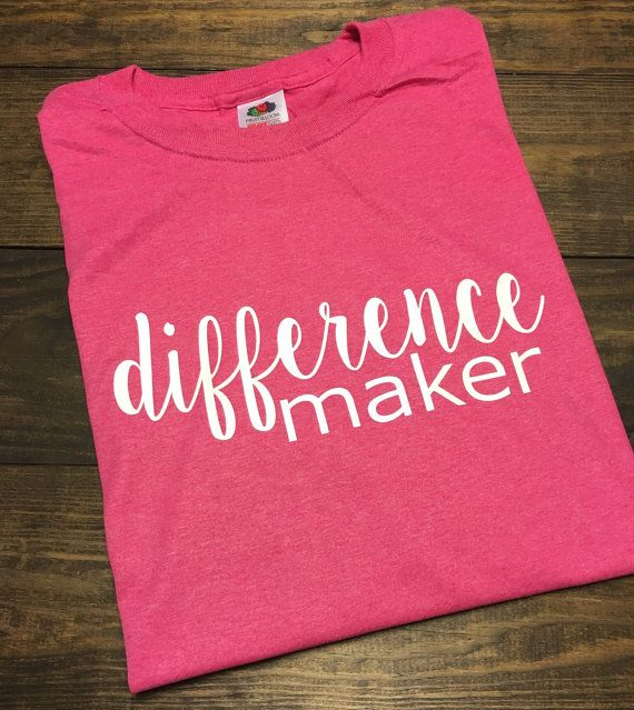 Difference Maker Teacher T-Shirt Teacher by MissyLuLus on Etsy