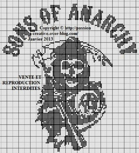 Grille gratuite point de croix : Sons of anarchy                                                                                                                                                                                 Plus
