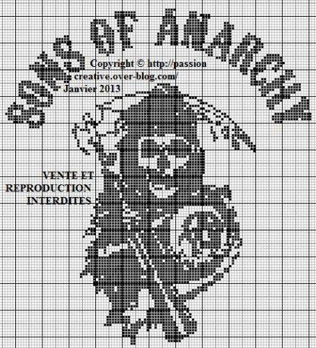 Grille gratuite point de croix : Sons of anarchy Plus