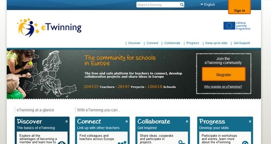 eTwinning: THE COMMUNITY FOR SCHOOLS ACROSS EUROPE- find partners and projects to lend an international dimension to your school and empower your pupils as true global citizens.