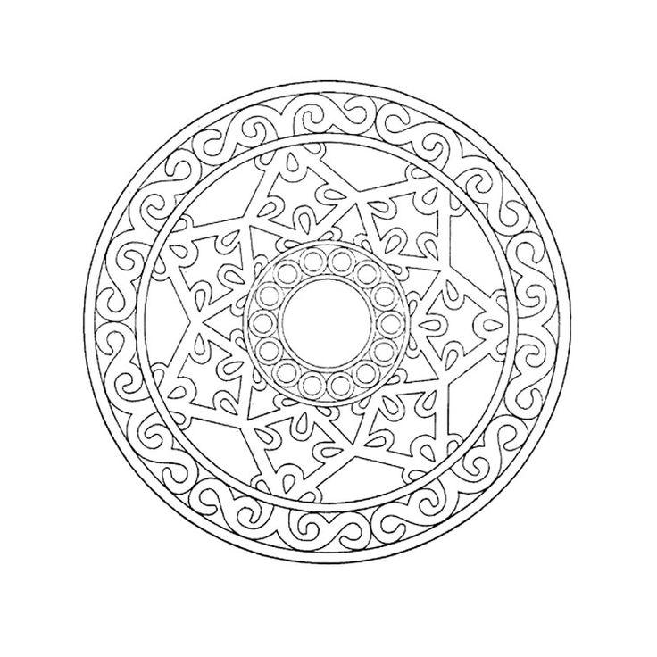 Coloriage mandala pour grand a imprimer gratuit mandalas - Grand mandala ...